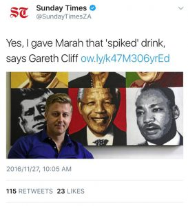 sunday times gareth cliff