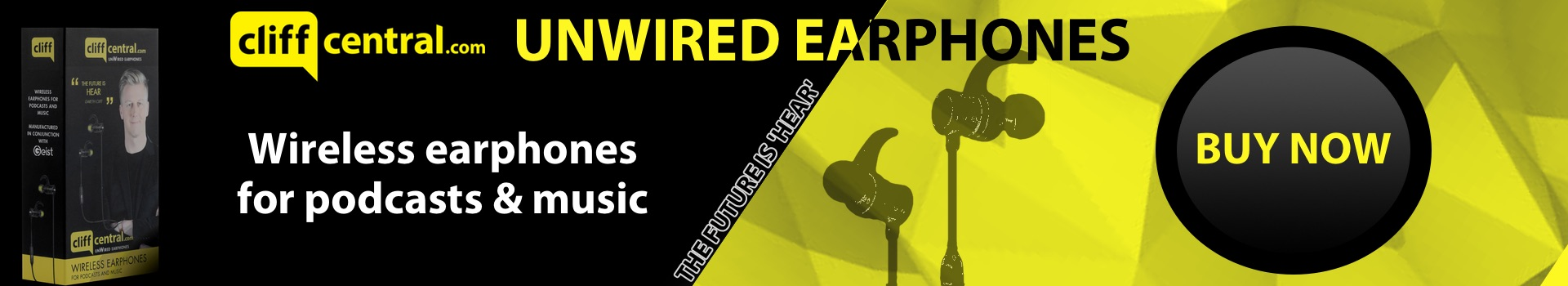 CliffCentral Unwired earphones main banner
